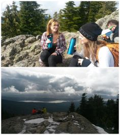 Not a bad way to spend a Sunday. Coffee break on a late winter hike to a peak behind Vancouver. Innate's vacuum bottles kept the drinks warm. #Innategear #grousemountain #hiking #outdoors #drinks