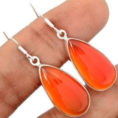 Carnelian 925 Sterling Silver Earrings Jewelry CRNE195 - JJDesignerJewelry