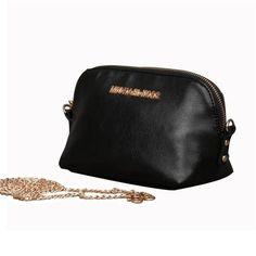 Michael Kors Logo Charm Small Black Crossbody Bags