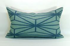 Kelly Wearstler Katana pillow cover in Jade/Teal - 12 x 20. $65.00, via Etsy.