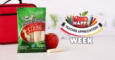 It's Teacher Appreciation Day! Show your gratitude with our string cheese & a bright red apple. A nice surprise for your teacher & a snack to fuel them through the day! #CheeseheadsUnite #FCHPromo