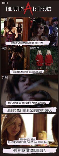 This is a good theory, Aria having another personality - Pretty Little Liars