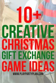 10+ gift exchange game ideas that are perfect for any Christmas party! Some of the best Christmas party games no matter what age - for adults, for teens, for kids, and even for a family night! These gift exchange ideas are not your typical white elephant one, they're way better!