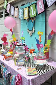 Alice in Wonderland Mad Tea Party Birthday Party Ideas   Photo 4 of 35   Catch My Party