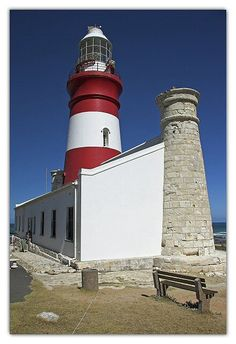 Cape Agulhas lighthouse Bass Harbor Lighthouse, Lighthouse Lighting, Lighthouse Pictures, Beacon Of Light, Light House, Diorama, Places To See, South Africa, Landscape Photography
