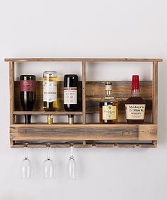 Love this Barn Wood Wall-Mounted Bar by DelHutson Designs on #zulily! #zulilyfinds