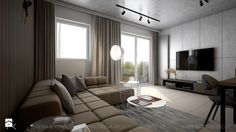 Salon, styl nowoczesny - zdjęcie od TK Architekci