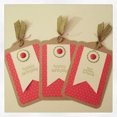Tags Stampin Up Two Tag