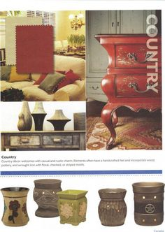 Country decor: Scentsy Style