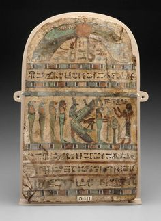 Wood and painted gesso funerary stele of Seperefha-Khonsu. Late Period. 26th dynasty. 664–525 B.C. | Museum of Fine Arts, Boston