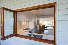 bi fold kitchen - imagine moving your bathroom to other side...