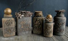 DIY Halloween Potion Plastic Medicine Bottles for an Apothecary Display