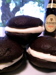 Let's make some Chocolate Guinness Stout Whoopie Pies!