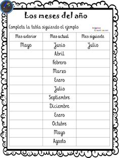 Spanish Interactive Notebook Numbers, Days, and Months Homeschool Worksheets, Spanish Worksheets, Homeschooling, Spanish Language Learning, Teaching Spanish, Spanish Interactive Notebook, Spanish Lessons For Kids, Learn Spanish, Classroom Rules Poster