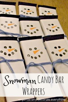 snowman-candy-bar-wrapper-for-christmas-crafting-and-gift-giving Organize and Decorate Everything