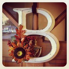 autumn door decorations | DIY fall door decoration I made today! :) | the DIYer