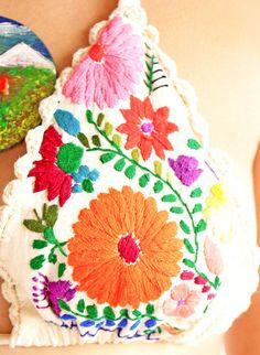 inspiration:  embellished/embroidered bikini top.