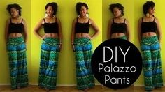 Sew high waisted pants - YouTube