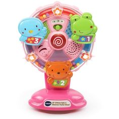 Spin the wheel of fun with the Lil  Critters Spin   Discover Ferris Wheel by  VTech! This unique toy attracts your baby s attention with flashing stars a  ... 0a197c1406ec7