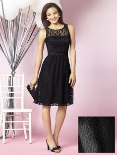 Black Lace Bridesmaid Dress | fashjourney.com