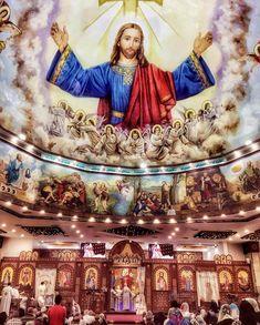 كنيسة  مار جرجس ارض الجنينة .. الزاوية الحمرا Life In Egypt, All Saints Day, Church Interior, Bible Words, Lion Of Judah, Religious Art, Virgin Mary, What Is Life About, Jesus Christ