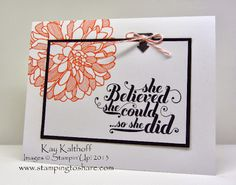 Kay Kalthoff, Stamping to Share, Stampin' Up!, Regarding Dahlias, Feels Good, How To Video