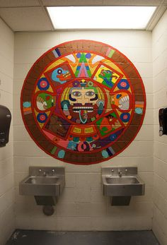 Mural, Pima County Juvenile Detention Center Library