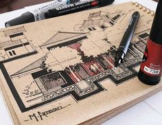 Architectural Sketch by Mohammed Ansari