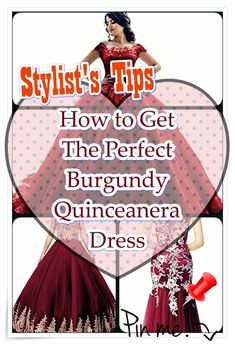 Burgundy Quinceanera dress- These stylist tips from social events party planners will assist you to find an ideal Burgundy Quinceanera dress in no time! Burgundy Quinceanera Dresses, Quinceanera Party, Social Events, Party Planners, How To Memorize Things, Stylists, Celebrities, Tips, Latin America