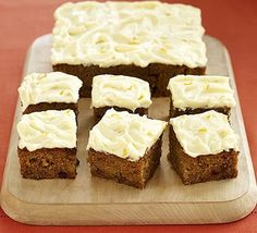 Like carrot cake? Then try using up your leftover pumpkin in this clever traybake for Halloween