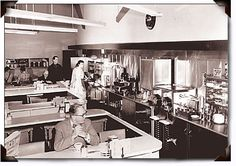Image showing Vintage Ice cream Cafeteria section