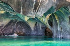 Marble Caves in Southern Patagonia, Chile