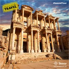 Celsus Library, one of the finest places of #Turkey which has over 12,000 handwritten books! #Reasons2Travel