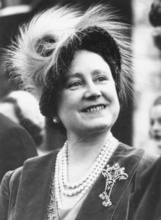 THE LADY ELIZABETH BOWES-LYON (b.1900-d.2002). QUEEN CONSORT OF GEORGE VI from her husband's accession on 11th December, 1936 until her husband's death on 6th February 1952. HOUSE OF SAXE-COBURG AND GOTHA (re-named HOUSE OF WINDSOR in 1917). PICTURE: A photo of Elizabeth Bowes-Lyon, Queen Consort of the United Kingdom.