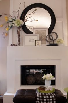00 Love this simple fireplace and layering on the mantel. Easy to update an old fir… Love this simple fireplace and layering on the mantel. Easy to update an old fireplace with accessories. Simple Fireplace, Home Fireplace, Fireplace Design, Fireplace Ideas, Fireplace Frame, Fireplace Makeovers, Brick Fireplaces, Modern Fireplaces, Fireplace Hearth