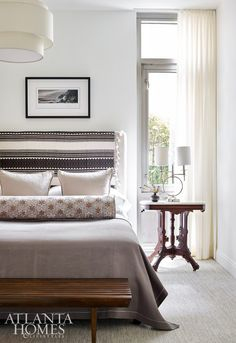Modern Heirloom, Jan 2018 Atlanta Homes Magazine. Atlanta Homes, Dining Room Inspiration, House And Home Magazine, Bedroom Decor, Bedroom Ideas, Master Bedroom, Interior Design, Modern, Furniture