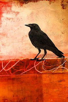 Raven Watching Contemporary Art by Nancy Merkle; Prints for Sale