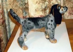 Needle Felted One Of A Kind Buetick Coonhound by KathysCraftShop