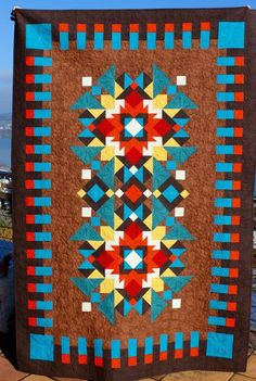 Indian summer - quilt pattern designed by Judit Hajdu, 2015