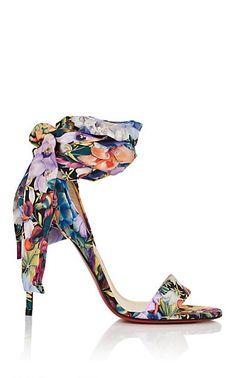 Christian Louboutin Sandale Du Desert Floral Crepe Sandals - Heels - 505924658