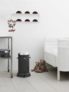 Vipp shelf & bin in the kids room. See more at vipp.com