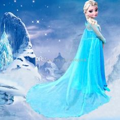 958c936a1eb0 Baby girls Frozen Princess dresses clothes sequins cape skirt girl cosplay  costume perform show clothing kids