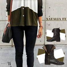 Botas moteras Natalia TT piel negra MAS34 http://www.mas34shop.com/tienda/natalia-trendy-taste/
