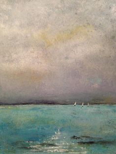 Moonlight Sail Painting - Jennifer Staten