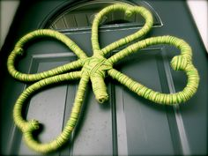 Shamrock Wreath made out of 1 pool noodle & yarn
