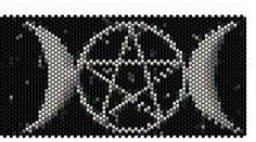 Triple Moon - Peyote Stitch