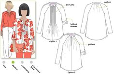 Faith Woven Top - Sizes 22, 24, 26 - Women's Sewing Pattern - Blouse / Top / Shirt Pattern by Style Arc