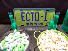 Ghostbusters Party - 30th birthday party idea, test tube green shots (midori?)