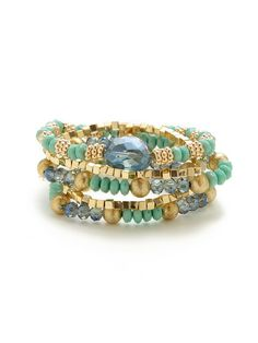 Set of 5 Stretch Bracelets by Leslie Danzis at Gilt