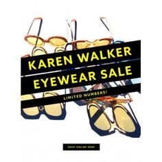 Eyewear Sale @ Karen Walker - Bargain Bro